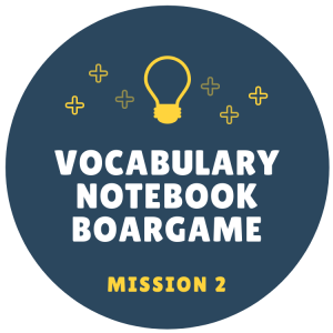 Vocabulary Notebook Boardgame Mission badge