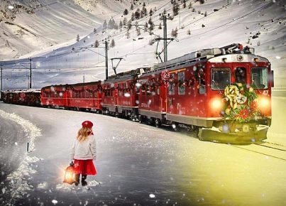 train-christmas-wait-snow-wallpaper-preview