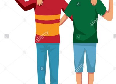 two-boys-smiling-hugging-and-waving-their-hands-best-friends-JGM35G